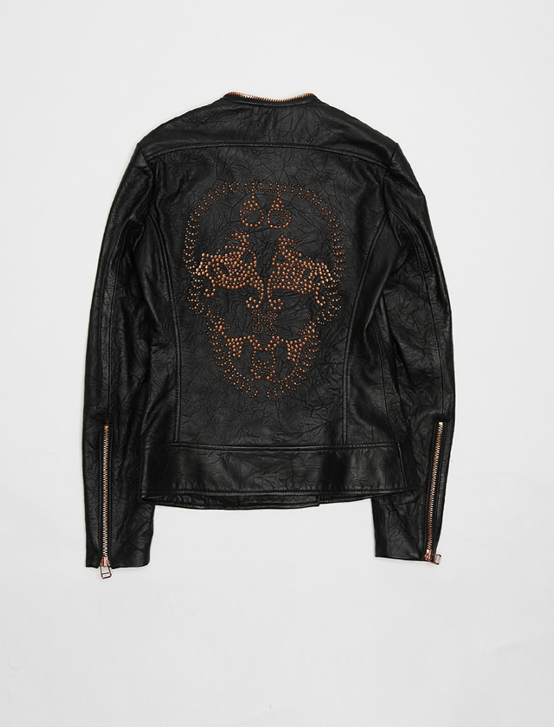 [REAL LEATHER] Skull Leather Jacaket