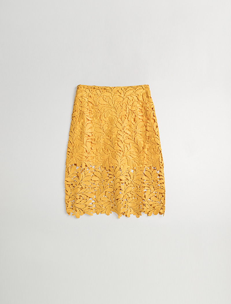 H Lace Skirt - Yellow