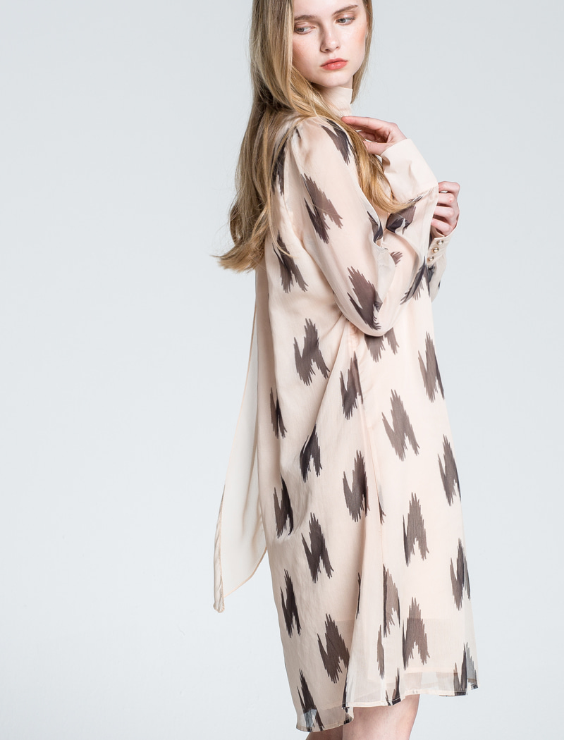 Scarf Chiffon Dress BE