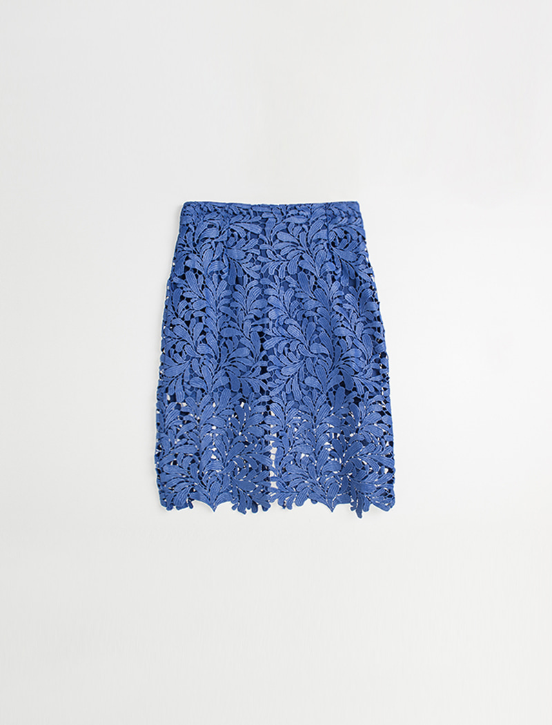 H Lace Skirt - Blue