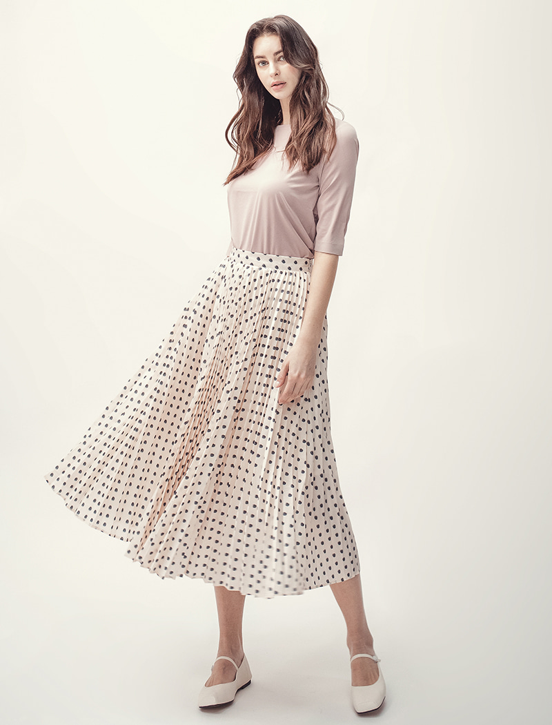 [YWZ]Peats Dot Long Skirt