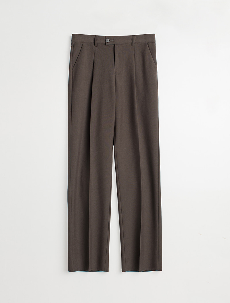 Straight Slacks - Khaki Brown