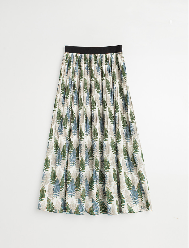 Retro Long Skirt (Green)