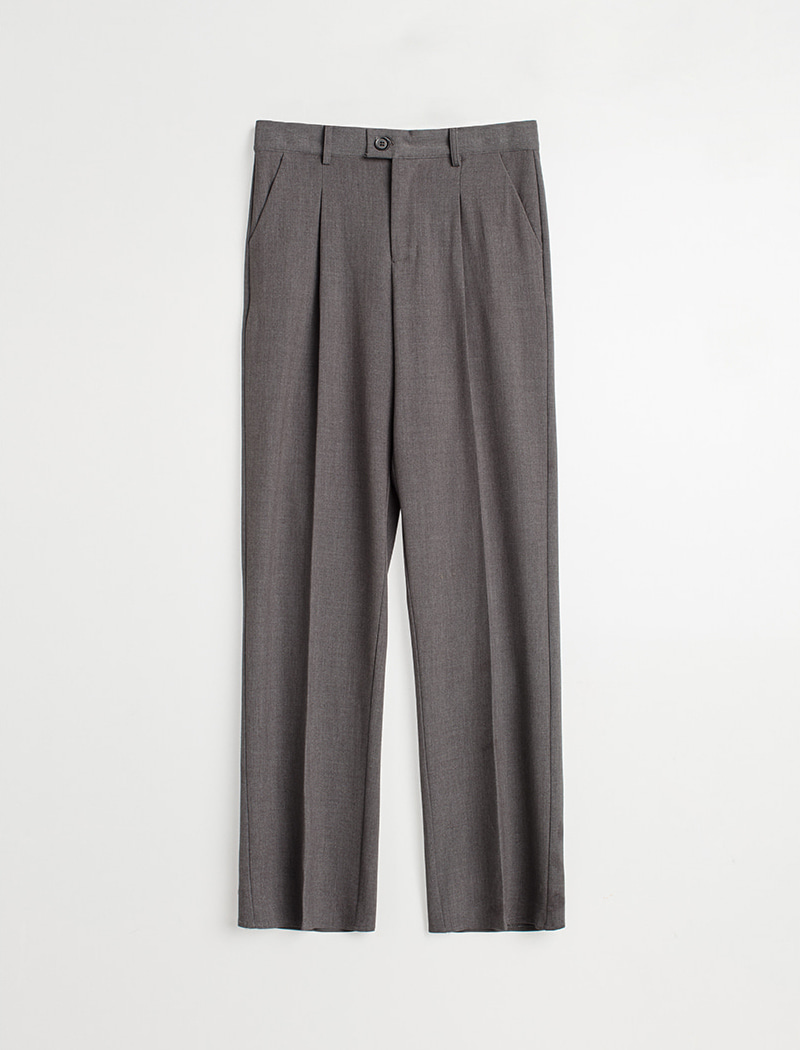 Straight Slacks - Gray