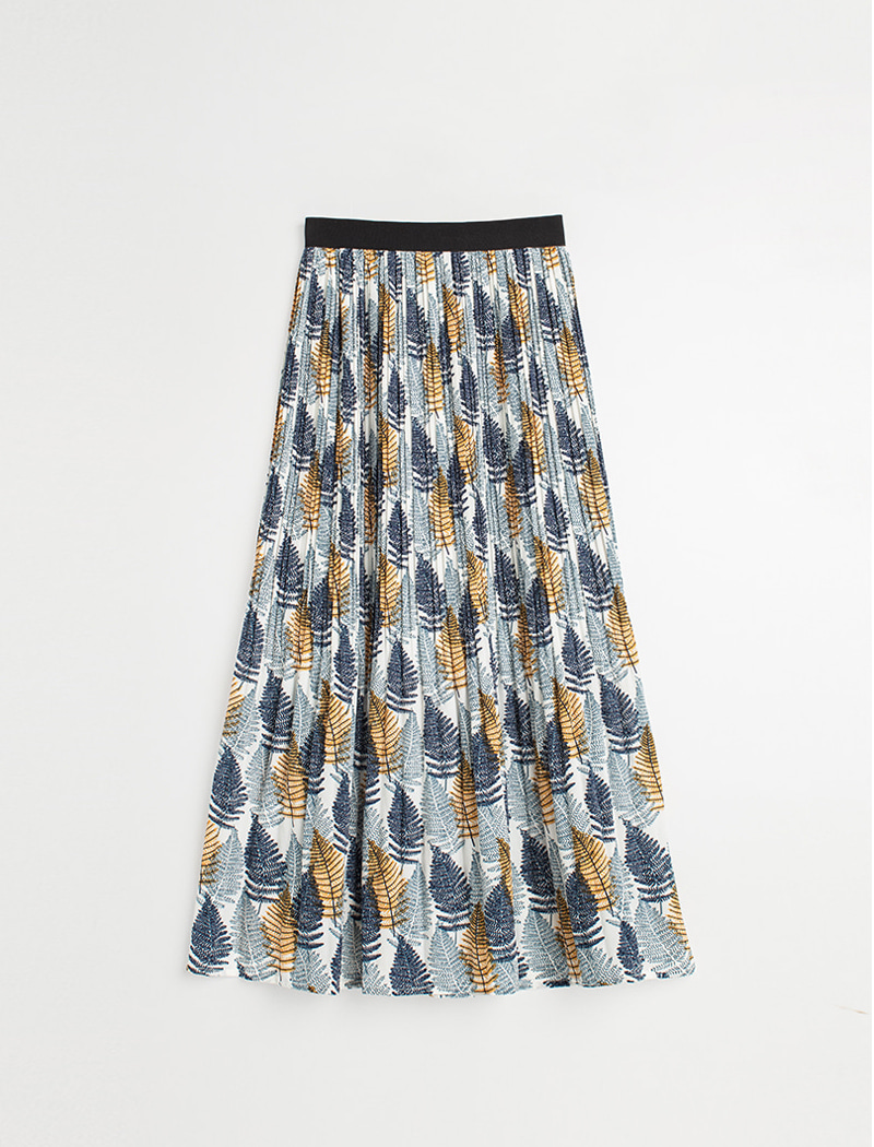 Retro Long Skirt (Blue)